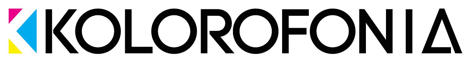 kolorofonia - logo - black