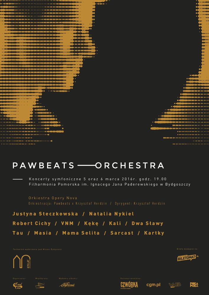 Plakat Koncerty Pawbeats Orchestra