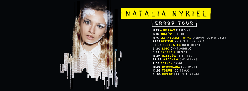 Nykiel Error Tour cover