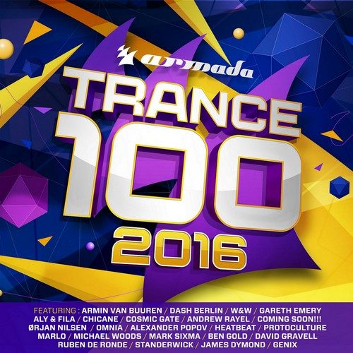 Various Artists - Trance 100 - 2016 (front)