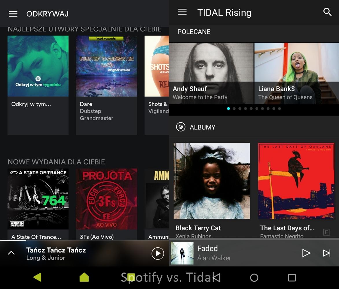 Spotify vs. Tidal