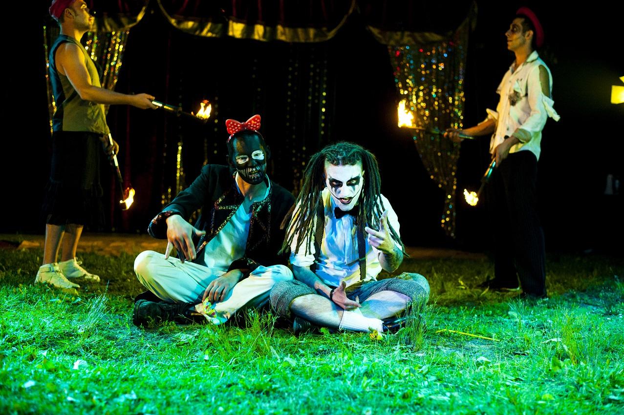Kleszcz & DiNO na planie klipu do utworu FREAK SHOW. Fot. Magdalena Salbert