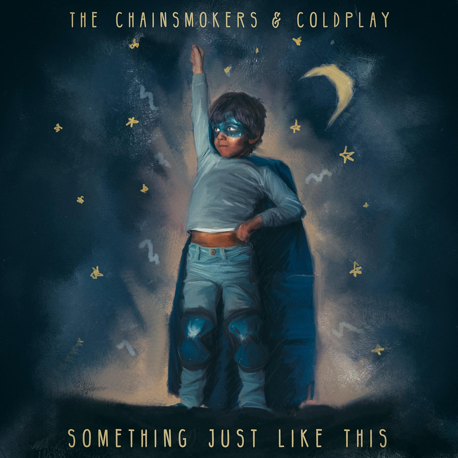 The Chainsmokers feat. Coldplay Something Like This single cover